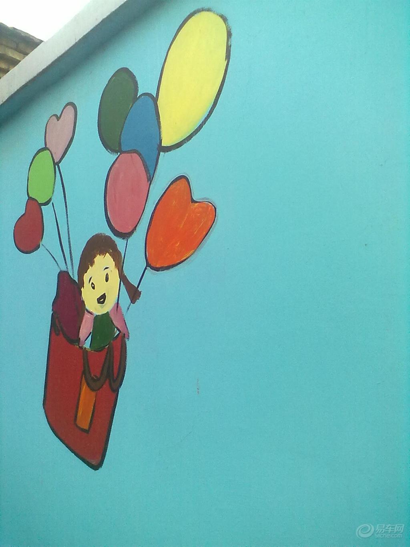海绵宝宝手绘墙效果图_齐家网装修效果图