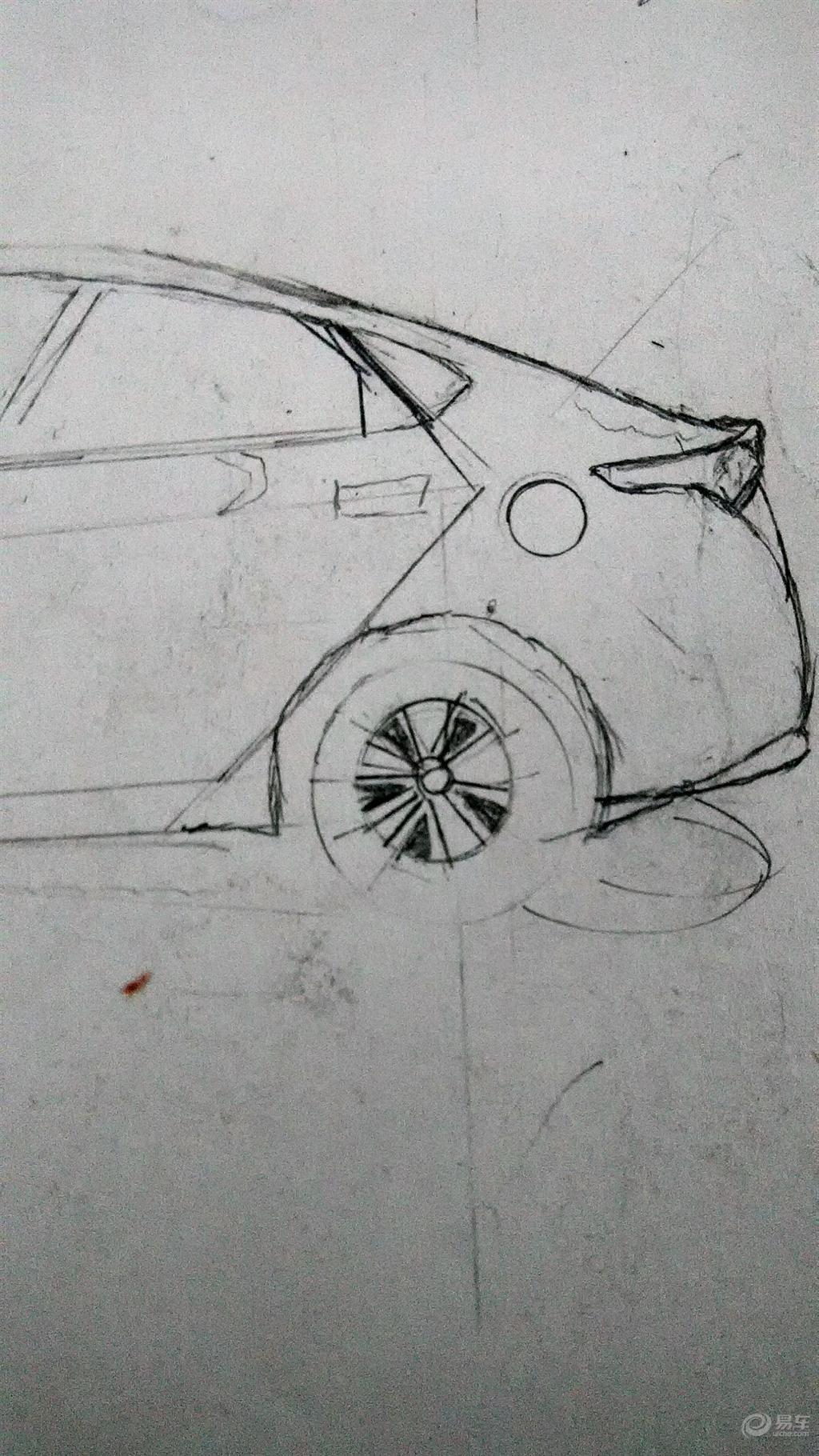 我画北现新车 手绘北京现代悦纳 画汽车论坛高清图片