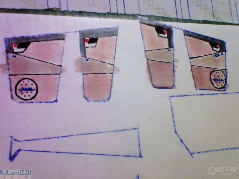 【【模型达人季】纯手工制作纸质汽车模型——我的大