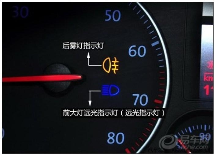 前大灯远光指示灯(远光指示灯):是为了在夜间驾驶时,更好地观察前方