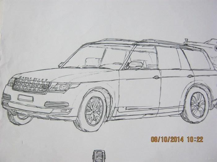 简单画画汽车图片包括步骤
