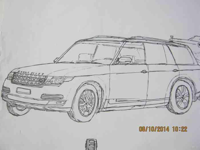幼儿园汽车素描画