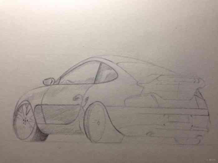【原创】学画汽车草图 素描