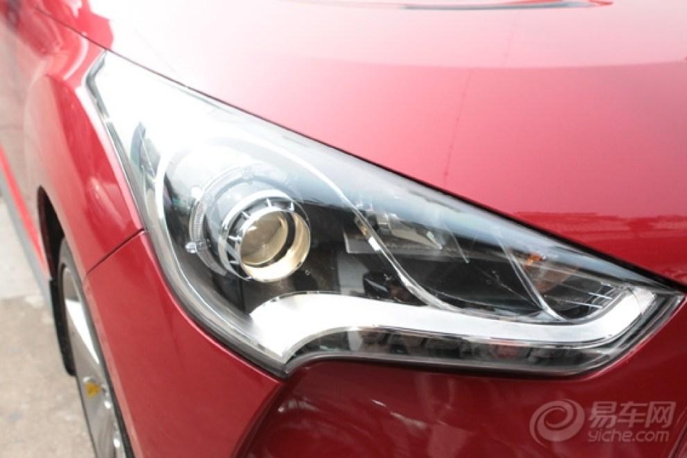 现代飞思大灯升级双光强劲车灯,飞利浦灯泡高清图片