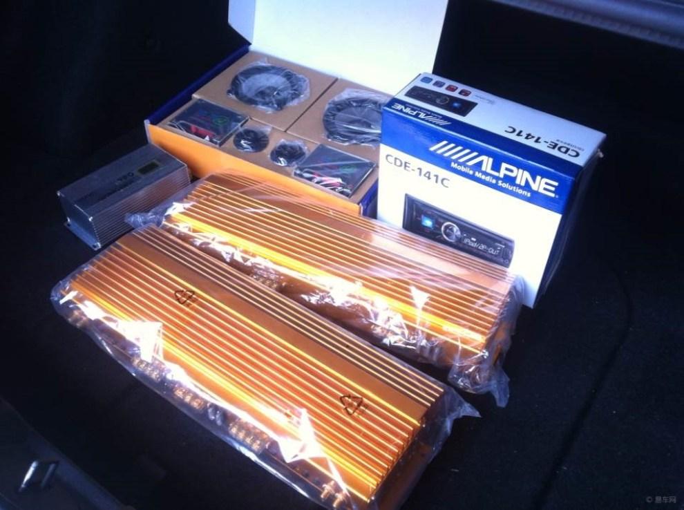 雪弗兰科鲁兹汽车音响改装 汽车隔音高清图片
