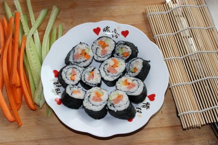 【【节目美食】自己做寿司】_论坛之旅美食日志丘阿主持美味图片