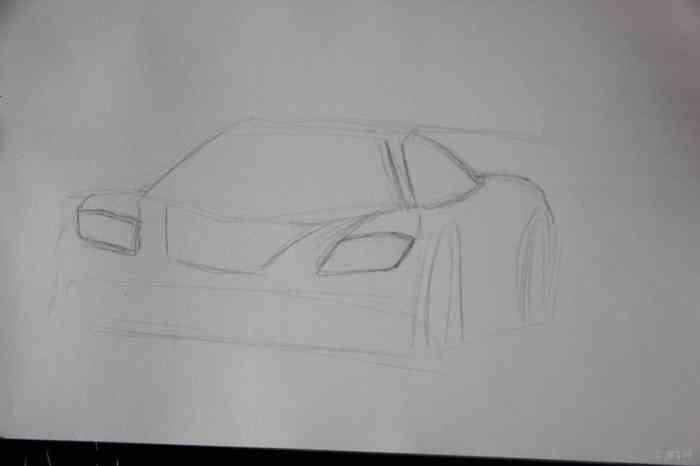 简单汽车素描步骤图片