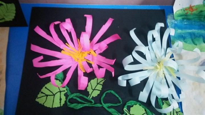 幼儿粘贴画花图片