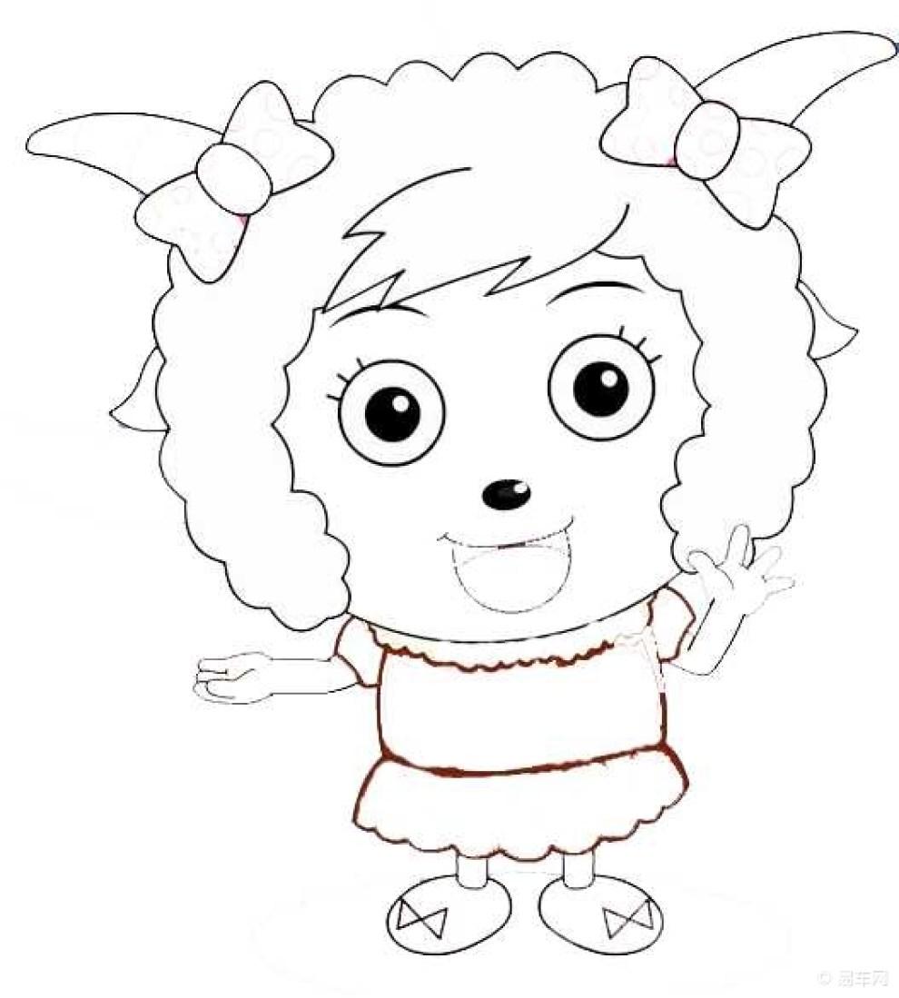【羊年红包】羊年画小羊 527