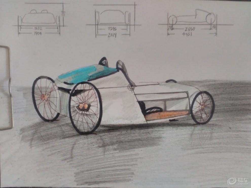 【蔚来汽车】彩铅画蔚来汽车