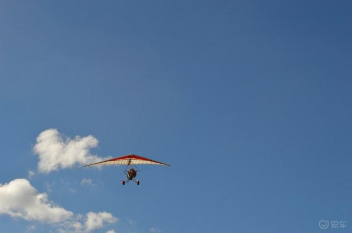 翱翔在蔚蓝的天空