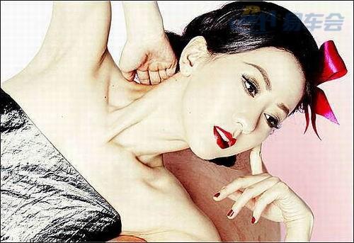 中国人体模特第一人汤加丽 不爱奥迪爱新君威