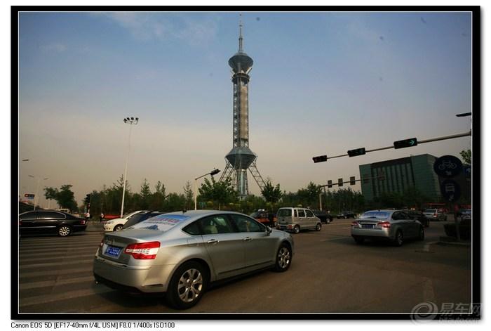 世纪公园的电视塔,可登上塔顶俯瞰整个石家庄