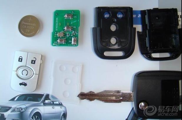 图解新凯越车钥匙更换电池步骤高清图片