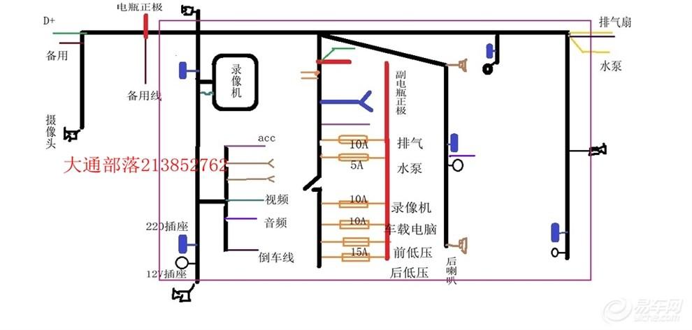【大通V80改多用途房车32步:逆变系统的控制设计与安装】_上汽大通社区图片集锦_汽车论坛-易车网